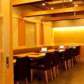 扉付きの完全個室席は大人数のご宴会でも対応可能です。