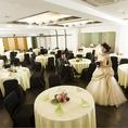 中華園では結婚式2次会も承っております。最大120名収容可能なので大人数はもちろん、人数に合わせてご利用いただけます。お気軽にお店へお問合せ下さい。