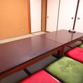 落ち着けるお座敷個室席はご宴会にも最適です。
