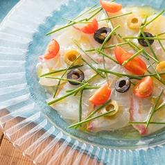 鮮魚のカルパッチョ カンティーナスタイル