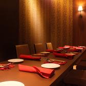 12名様まで対応可能なテーブル席個室
