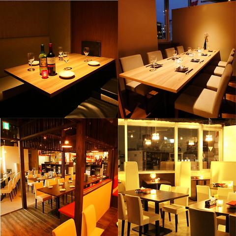 【全席完全個室♪】夜景が見える席は予約必至!ワイン×燻製料理が自慢のお店!