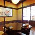 個室席は4-6名様の畳の個室と、8-12名様までの掘りごたつ式個室が御座います。