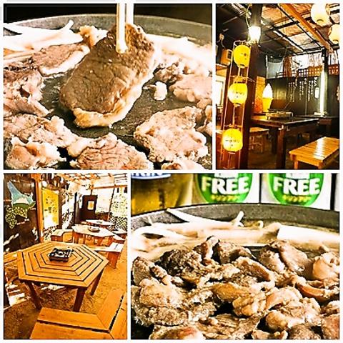 開放的なガーデン席で本格ジンギスカンを♪うれしい食べ飲み放題が4200円で!!