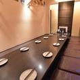 2階に個室のご用意が一部屋ございます。最大16名様まで対応可能です。