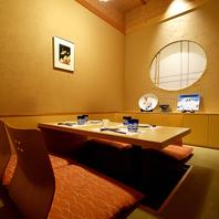お洒落な装飾が施された個室空間が人気の秘密!