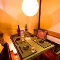 15名様から利用できる和モダンな大人の空間をイメージした個室も多数あります。