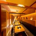 【扉付き完全個室】最大40名様まで可能な宴会個室!赤坂での会社宴会・歓送迎会に♪都心の喧騒を忘れてお楽しみください。