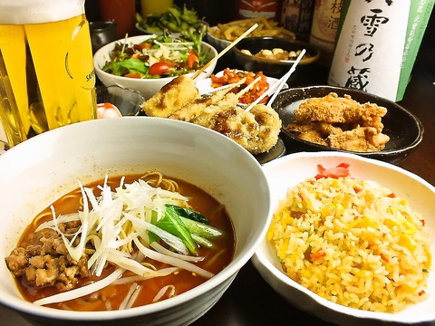 担担麺 串揚げ 利休