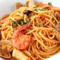 料理メニュー写真エビ・イカ・アサリのスパゲッティー