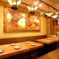 6名様テーブルが2つ並んだ一体感のあるお席です♪(10~12名様向け)