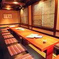 大人数用の個室ご用意しております!宴会などにご利用ください。江戸時代末期をコンセプトにした雰囲気が、非日常感を演出してくれます!