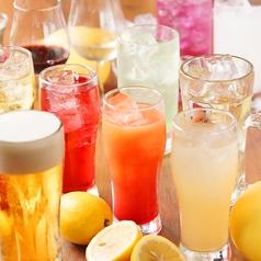 ドリンク総種類数は70種以上!超絶ラインナップの飲み放題メニューは、どれを飲もうか迷ってしまうほど!お客様のお気に入りの一杯がきっと見つかるはず!たくさん種類があるので、まだ飲んだことのないドリンクを味わってみるのも一興!