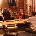 お座敷の空間。美味しい料理と楽しい雰囲気にお酒が進みます。※記載以外の席もございます。