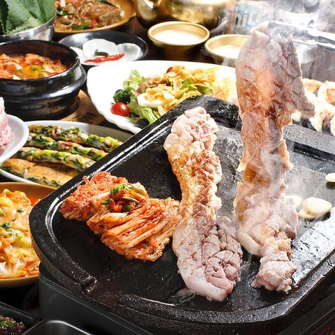 [優秀韓食レストラン]認定★サムギョプサル・タッカンマリなど食べ飲み放題2580円~♪