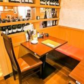少人数の宴会にピッタリのお席。3名様用のお席となっております。※画像は系列店