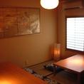 10、20、30名などに用途に応じて対応する個室多数。顔合わせや接待などの落ち着いた雰囲気と格式の高さを兼ね備えたシーンにも使い易いお席。