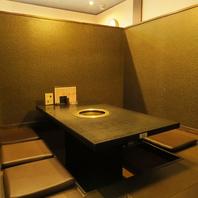 全席個室もしくは半個室。宴会利用も可