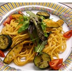 ナスとズッキーニのトマトスパゲッティ