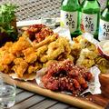 料理メニュー写真選べる韓国クリスピーチキン ハーフオリジナル・ヤンニョム・コチュマヨ・チーズ