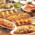 串カツと同じソースを使用した甘口テイストの焼きそばが粉ものによく合います☆もっちり太麺に濃厚ソースがよく絡みます☆