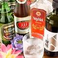 ★オススメ3★現地から直輸入した『ビール・焼酎』など各種取り揃え。やっぱり美味しいアジアンビールには各国のお酒が一番合います。