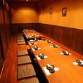会社宴会・打ち上げなどの大人数宴会には人気のお席です!飲み放題付宴会コースは8品3500円~!!