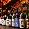 宮城・仙台の地酒を中心に常時10種~15種をご用意