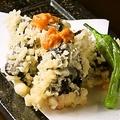 料理メニュー写真生うにの天ぷら
