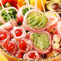 有機野菜使用の博多発祥の野菜巻きが当店の魅力!
