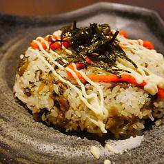 明太子と高菜のチャーハン
