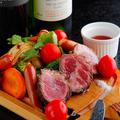 料理メニュー写真和牛赤身のシュラスコ