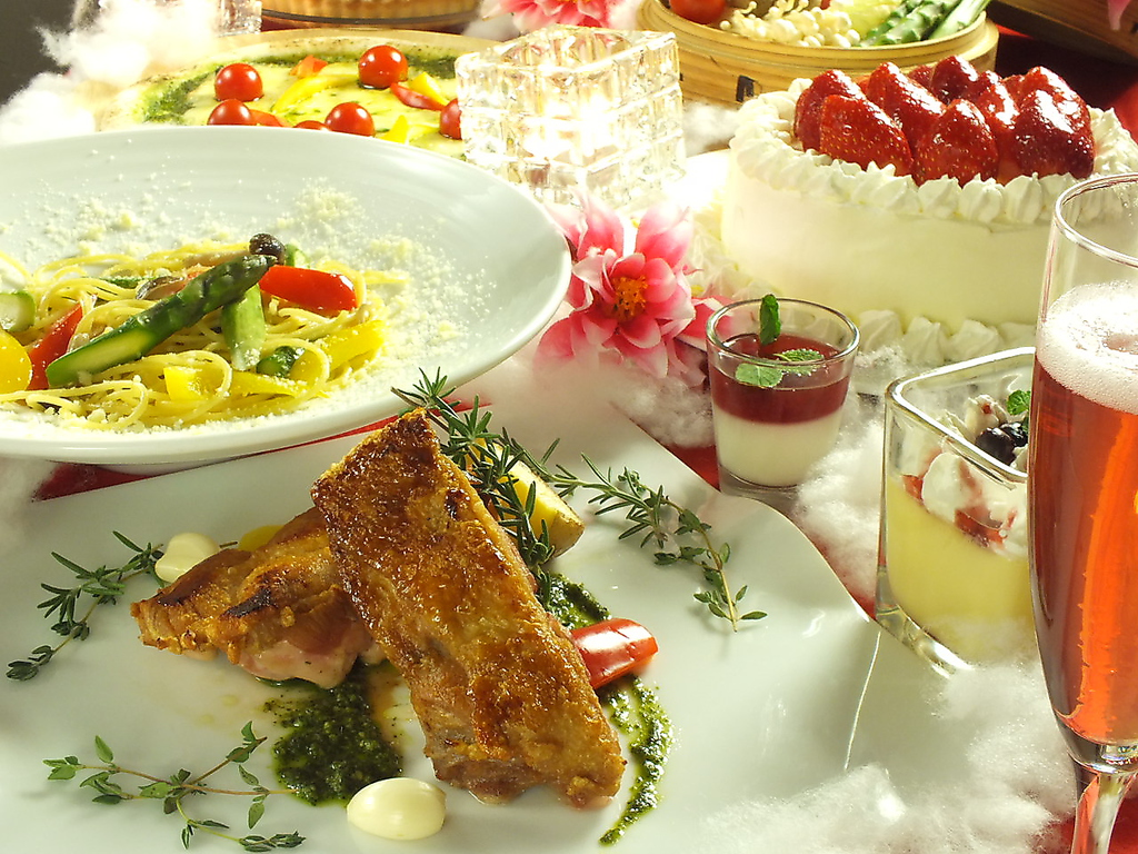 大切な方のお祝いに♪焼肉メニュー&お祝いケーキ付全70品食べ飲放題120分2380円を夏企画2180円に♪