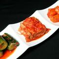 料理メニュー写真自家製キムチ3種盛り