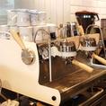こだわりのエスプレッソマシンでいれたコーヒーをお楽しみください◎