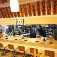 お寿司を握る姿を見ることのできるオープンカウンターは全6席!
