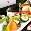 料理メニュー写真信州地物野菜十種の焼き野菜サラダ
