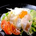 料理メニュー写真有田鶏 鶏生ハム 温玉シーザーサラダ