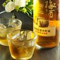 【山崎梅酒】山崎のウィスキーと同じ所蔵熟成に使用していた古樽で仕込んだ梅酒。独特の、ウィスキー樽の薫りが口の中に広がります。