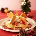 料理メニュー写真苺のミルフィーユ風パンケーキ