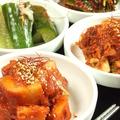 料理メニュー写真キムチ各種(白菜キムチ/カクテキ/オイキムチ/山芋のキムチ)