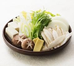 料理メニュー写真すきやき鍋野菜盛り合わせ