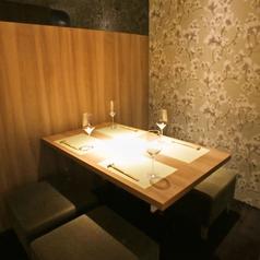 ◆四名様用完全個室をご完備しております◆周りを気にすることなくゆったりとのんびりとお過ごし頂けるお席ばかりですので是非ご来店くださいませ♪当店は日本酒をじっくり味わってもらうためにワイングラスでご提供しております♪いつもとは違う雰囲気でのお食事、飲み会をお愉しみくださいませ・・・♪