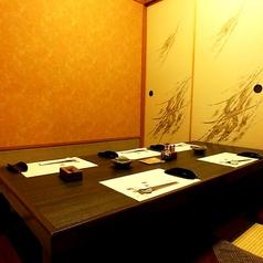 一階の掘りごたつ個室です。接待、食事会、少し贅沢なお食事など様々なシーンで。