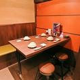 【4名様用テーブル席】ゆったりおくつろぎいただけるテーブル席を大小様々多数ご用意!『九州魂 呉駅前店』は、九州の焼酎も多数取り揃えており、九州料理に合わせて是非お試しください♪呉駅徒歩1分と、好アクセスの当店は各種ご宴会にオススメ◎お気軽に本場九州の味覚を味わっていただけます★ご不明点あれば店舗まで◎