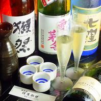 日本酒やシャンパンも充実の品ぞろえ♪