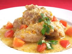 料理メニュー写真カチャトーラ(鶏の狩人風煮込み)