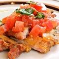 料理メニュー写真鶏肉のハーブトマトソース添え