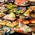 ☆各種コースはメイン料理をお客様にお選びいただけます☆九州産銘柄豚のステーキや鶏ステーキなどの肉料理をはじめ、野菜たっぷりヘルシーな鶏塩鍋やぷりぷりのこだわりもつ鍋なども好きなものをチョイス!もちろん2時間飲み放題付き♪