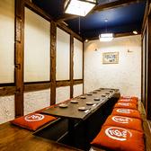 14名様でご利用いただける掘りごたつ個室席もご用意しております。少人数様の各種宴会にぴったりのお席です。